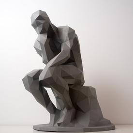 Thinker Paper Sculpture Kit
