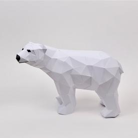 Mini Polar Bear Paper Sculpture Kit