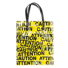 Caution and Attention Tote - Flat YELLOW