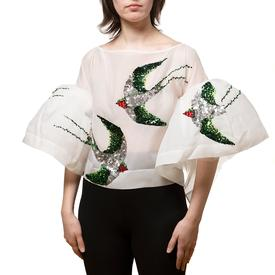 Swallows Silk Blouse