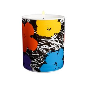 Andy Warhol Flowers Candle PURPLE