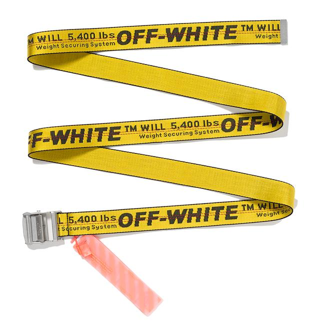 Virgil Abloh Off- White Belt - Yellow And Black