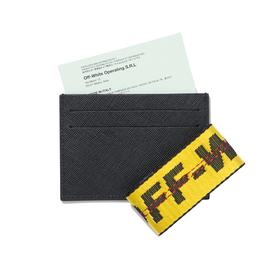 Virgil Abloh Off-White Black Leather Card Holder