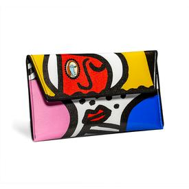 Cubist Faces Clutch