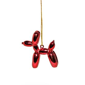 Balloon Puppy Ornament - Red