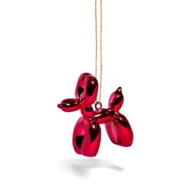Balloon Puppy Ornament - Red RED