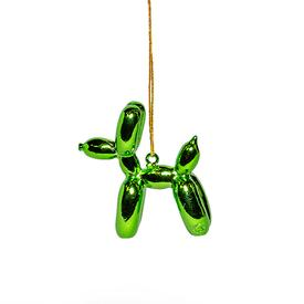 Balloon Puppy Ornament - Green