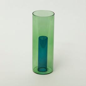 Reversible Glass Vase - Green/Blue GREEN_BLUE