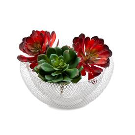 Mesh Double Wall Bowl - White