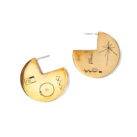 Golden Record Earrings
