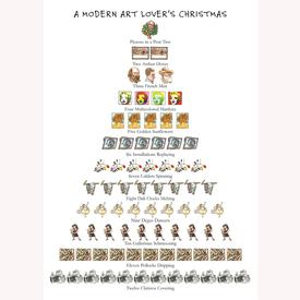 Modern Art Lover Holiday Cards