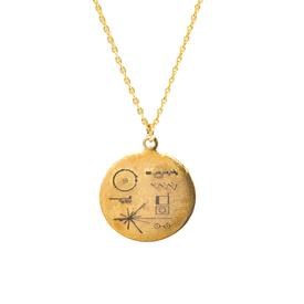 Golden Record Necklace
