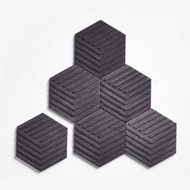 Concrete Tile Coasters - Charcoal