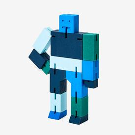 Small Cubebot - Blue Multi