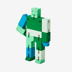 Small Cubebot - Green Multi