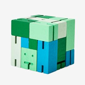 Small Cubebot - Green Multi GREEN_MULTI