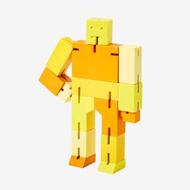 Small Cubebot - Yellow Multi