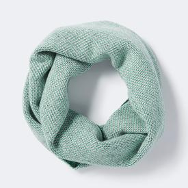 Loom Circle Scarf - Smoke, Kelp + Grey Wolf
