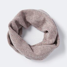 Loom Circle Scarf - Smoke, Coral + Ink