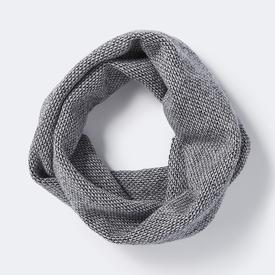 Loom Circle Scarf - Navy, Stone + Wolf Grey