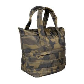 Small Camo Puffer Tote - Green