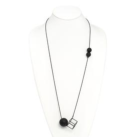 Cube and Orbs Necklace