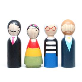 Modern Artists Wooden Doll Set