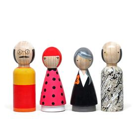 Modern Artists II Wooden Doll Set