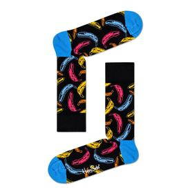 Andy Warhol Banana Sock- Black Multi