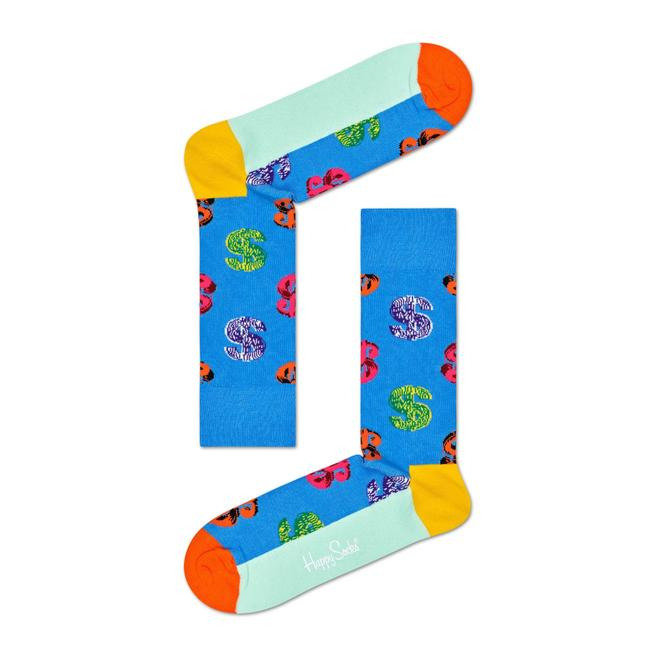 Andy Warhol Dollar Sock- Blue- Multi