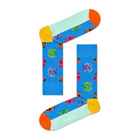 Andy Warhol Dollar Sock- Blue-Multi