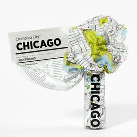 Chicago Crumpled City Map