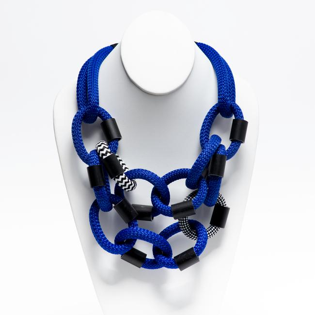 Links Necklace - Blue