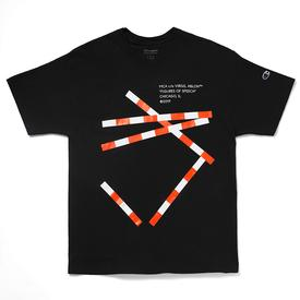 Virgil Abloh MCA FOS Lines T-Shirt - Black