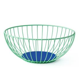 Large Iris Wire Basket -  Mint Blue