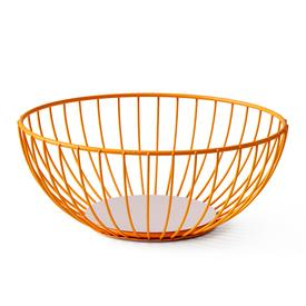 Large Iris Wire Basket -  Orange Pink