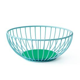 Small Iris Wire Basket -  Light Blue and Green