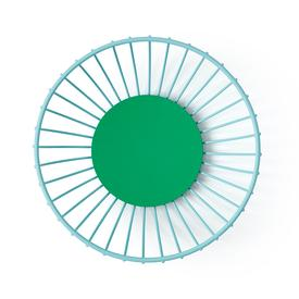 Small Iris Wire Basket -  Light Blue and Green LBLUE_GREEN