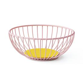Small Iris Wire Basket -  Pink Yellow