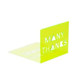 Many Thanks Neon Greeting Card