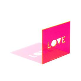Love Neon Greeting Card