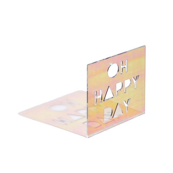 Happy Day Neon Greeting Card