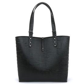 Black Chinchilla Vegan Tote