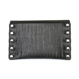 Thin Wallet - Black Vegan Chinchilla