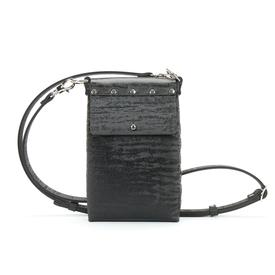 Black Vegan Chinchilla Mobile Bag