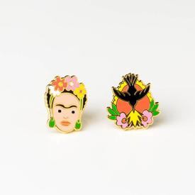 Frida Kahlo and Milagro Earrings