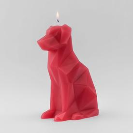 Voffi Terracotta Dog Skeletal Candle