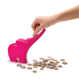 Elli Elephant Coin Bank - Pink