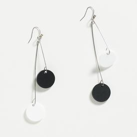 Takara Dangle Alternating Circles Black and White Earrings