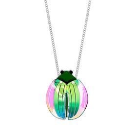 Emerald Beetle Necklace
